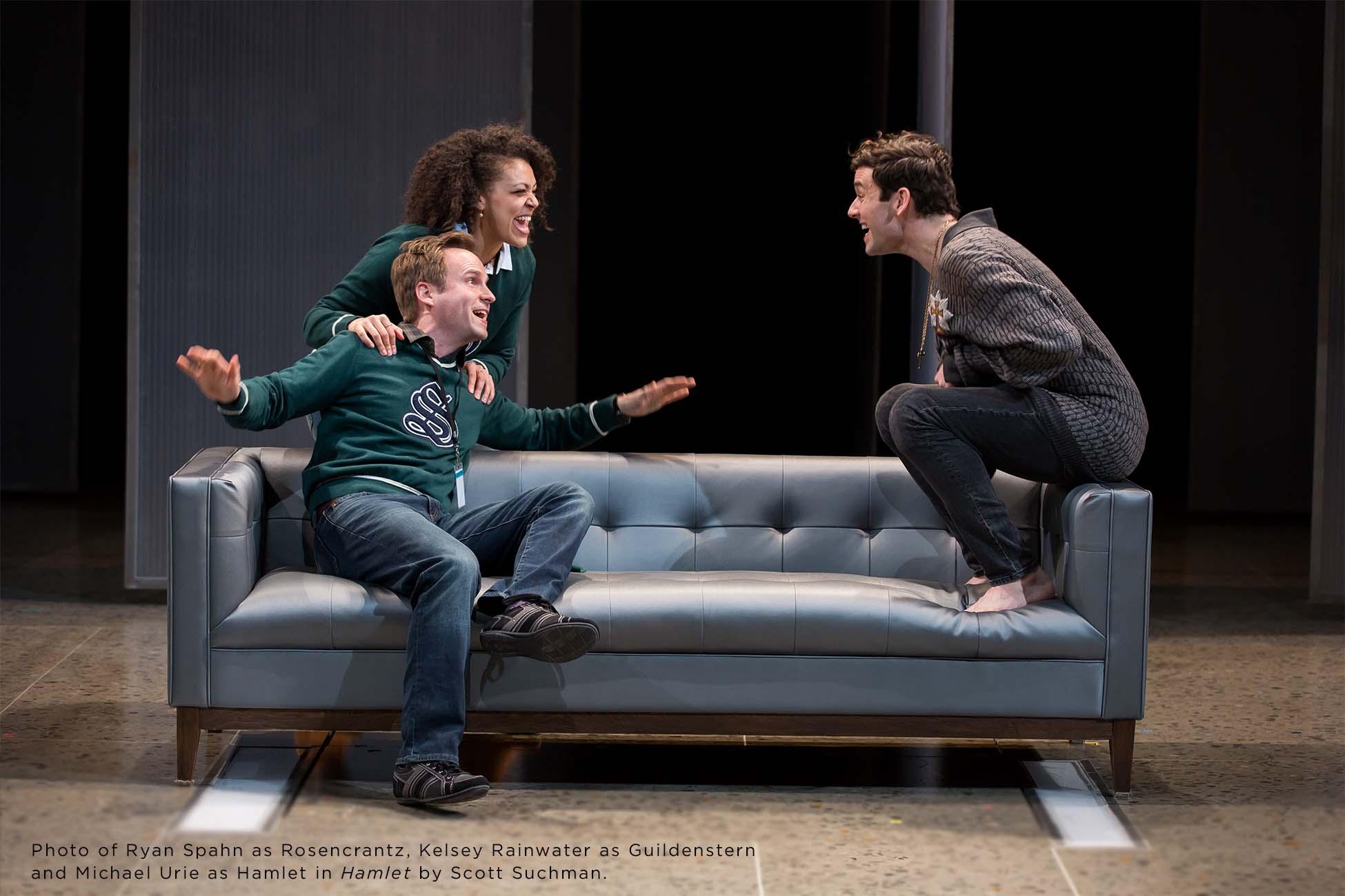 Photo of Ryan Spahn, Kelsey Rainwater and Michael Urie by Scott Suchman.