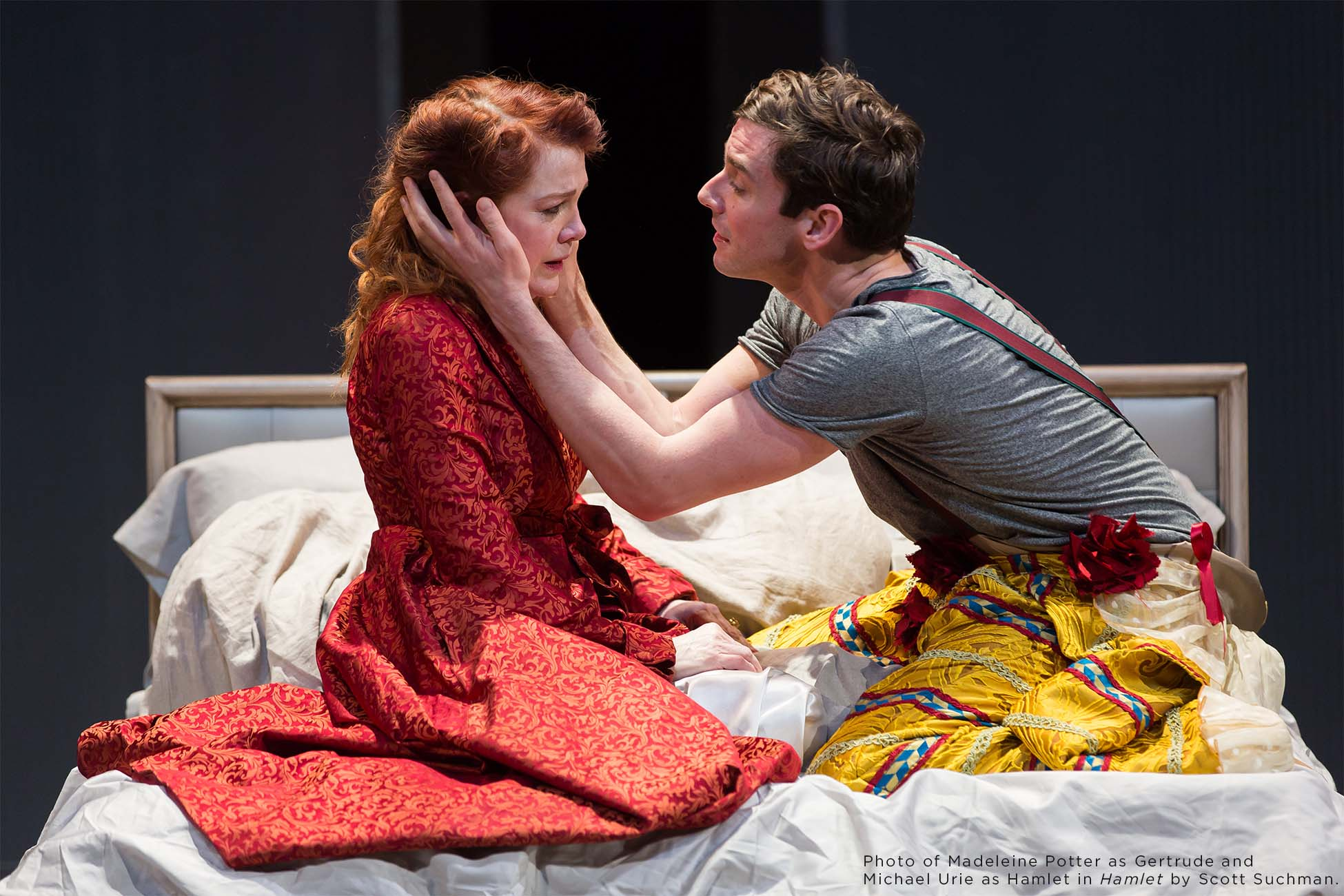 Photo of Madeleine Potter and Michael Urie by Scott Suchman.