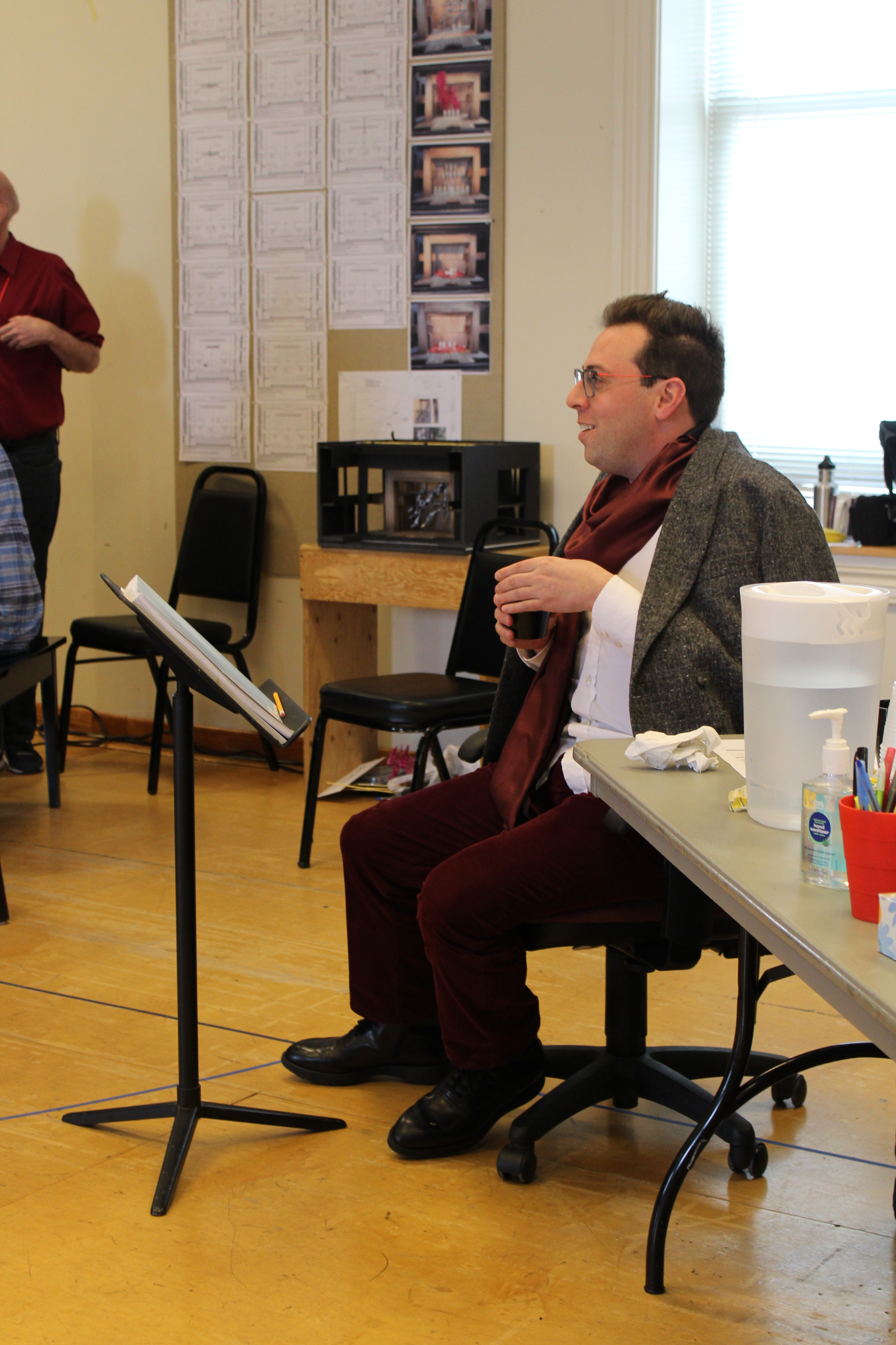 Photo of Director Alan Paul in rehearsal for Camelot.