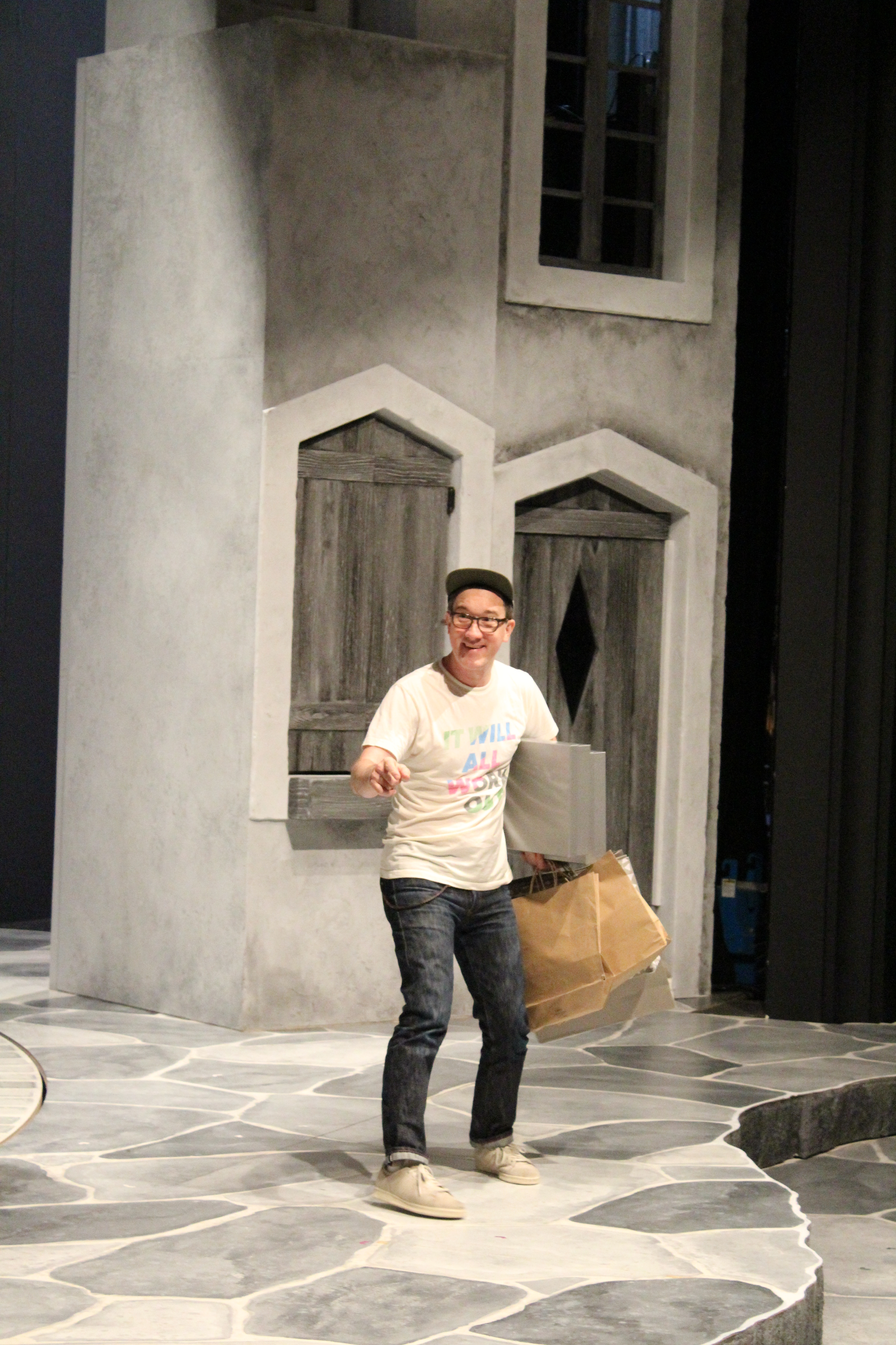 Carson Elrod in rehearsal for The Comedy of Errors.