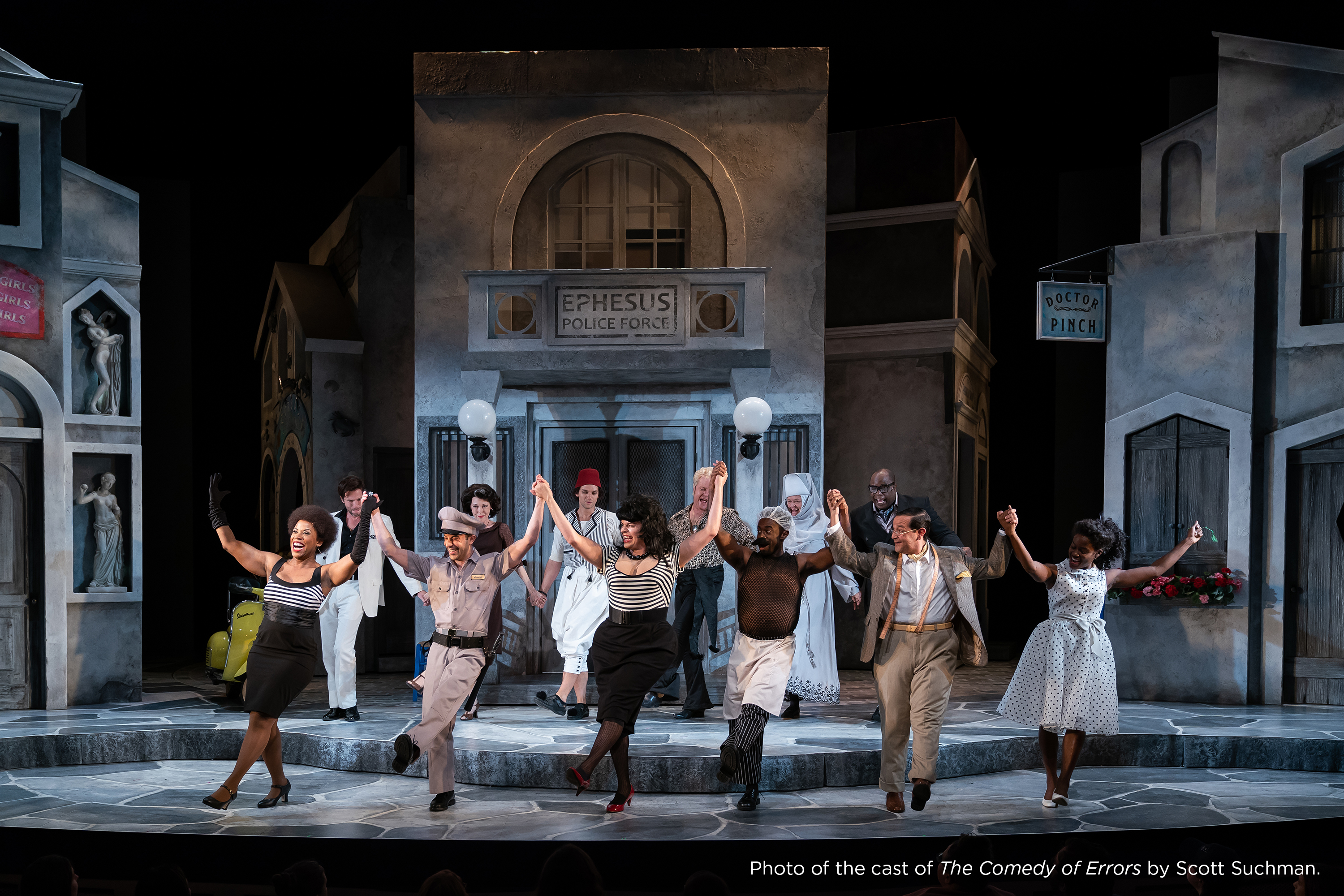 Photo of the cast of The Comedy of Errors by Scott Suchman.