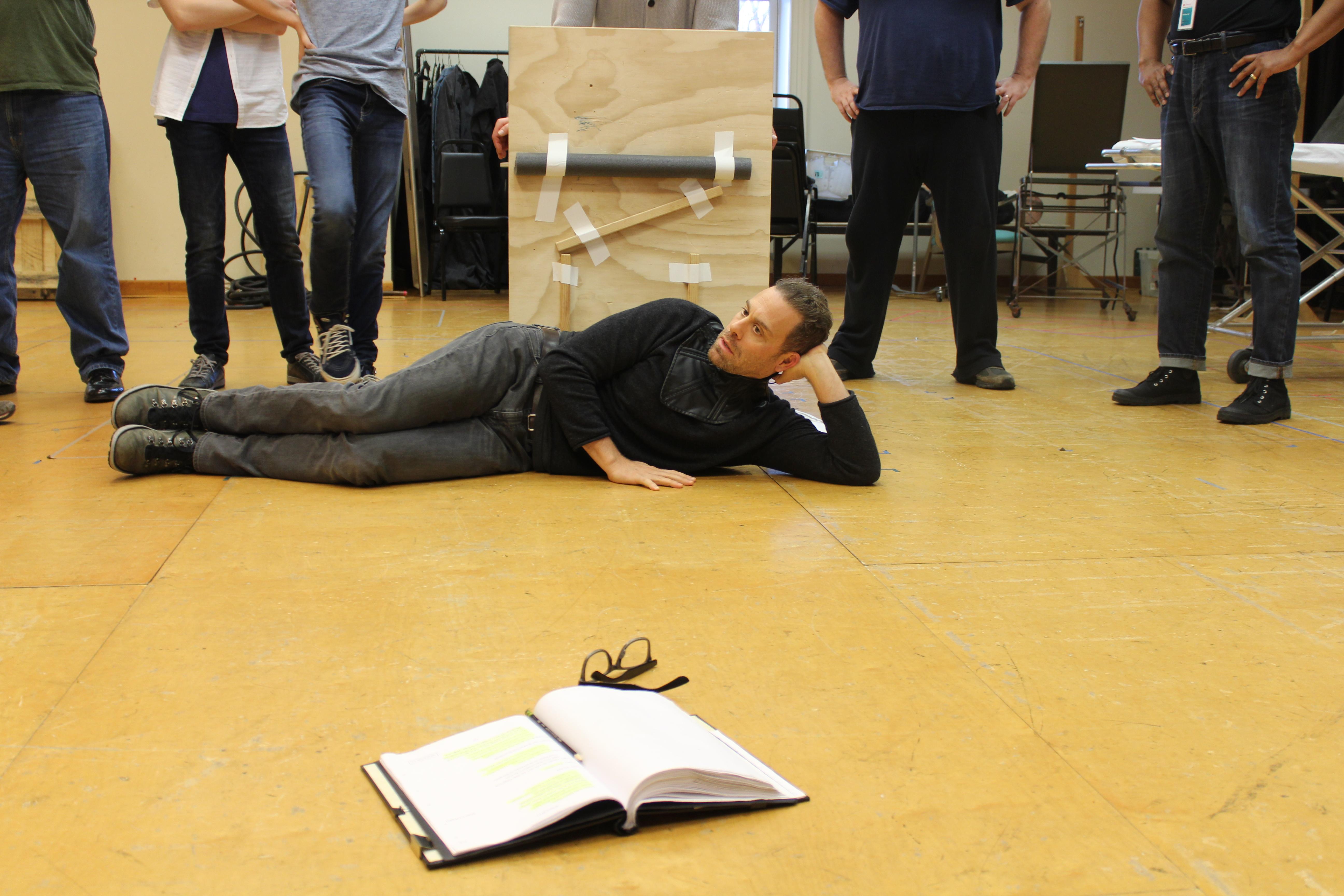 Photo of Matthew Rauch as Richard in rehearsal for RICHARD THE THIRD.
