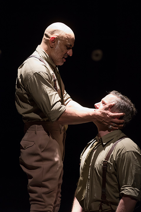 Faran Tahir as Othello and Jonno Roberts in STC's Othello