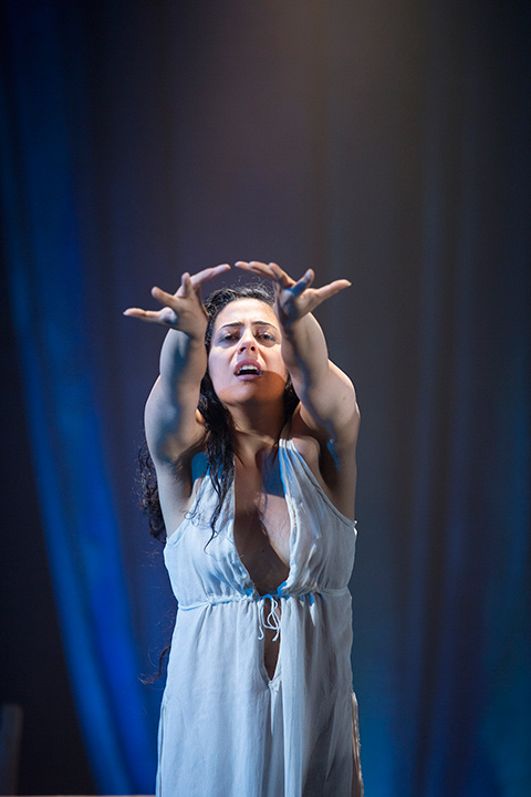 Nadine Malouf as Salomé in Yaël Farber's Salomé at the Shakespeare Theatre Company.