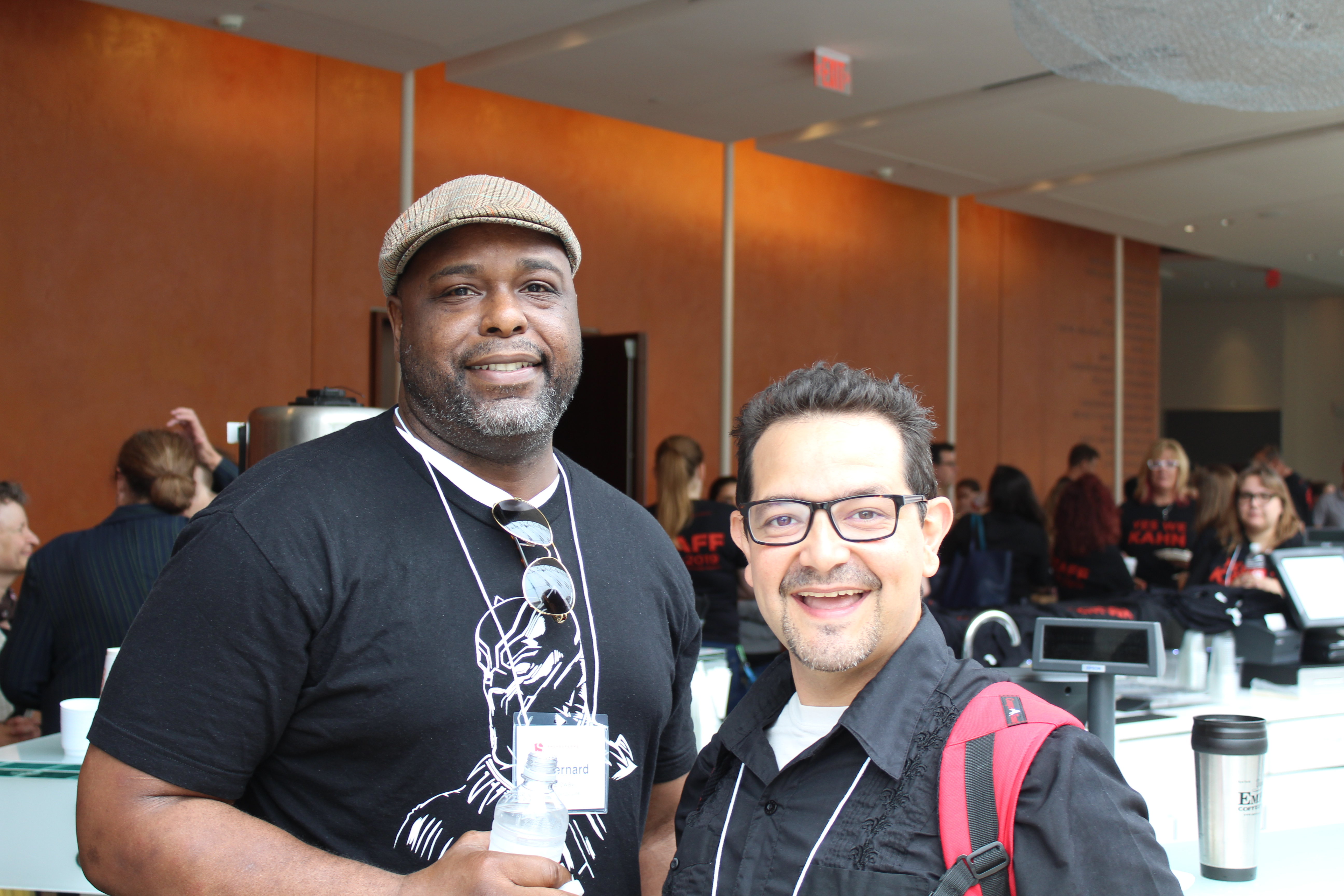 Photo of J. Bernard Calloway and Matt Zambrano at the first rehearsal of The Comedy of Errors.