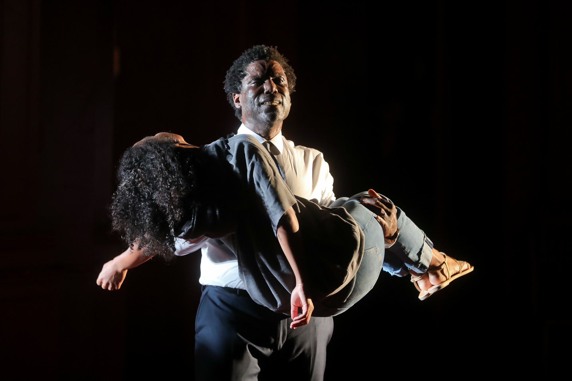 Photo of Timothy D. Stickney as Capulet and Danaya Esperanza as Juliet in Romeo & Juliet by Tony Powell.