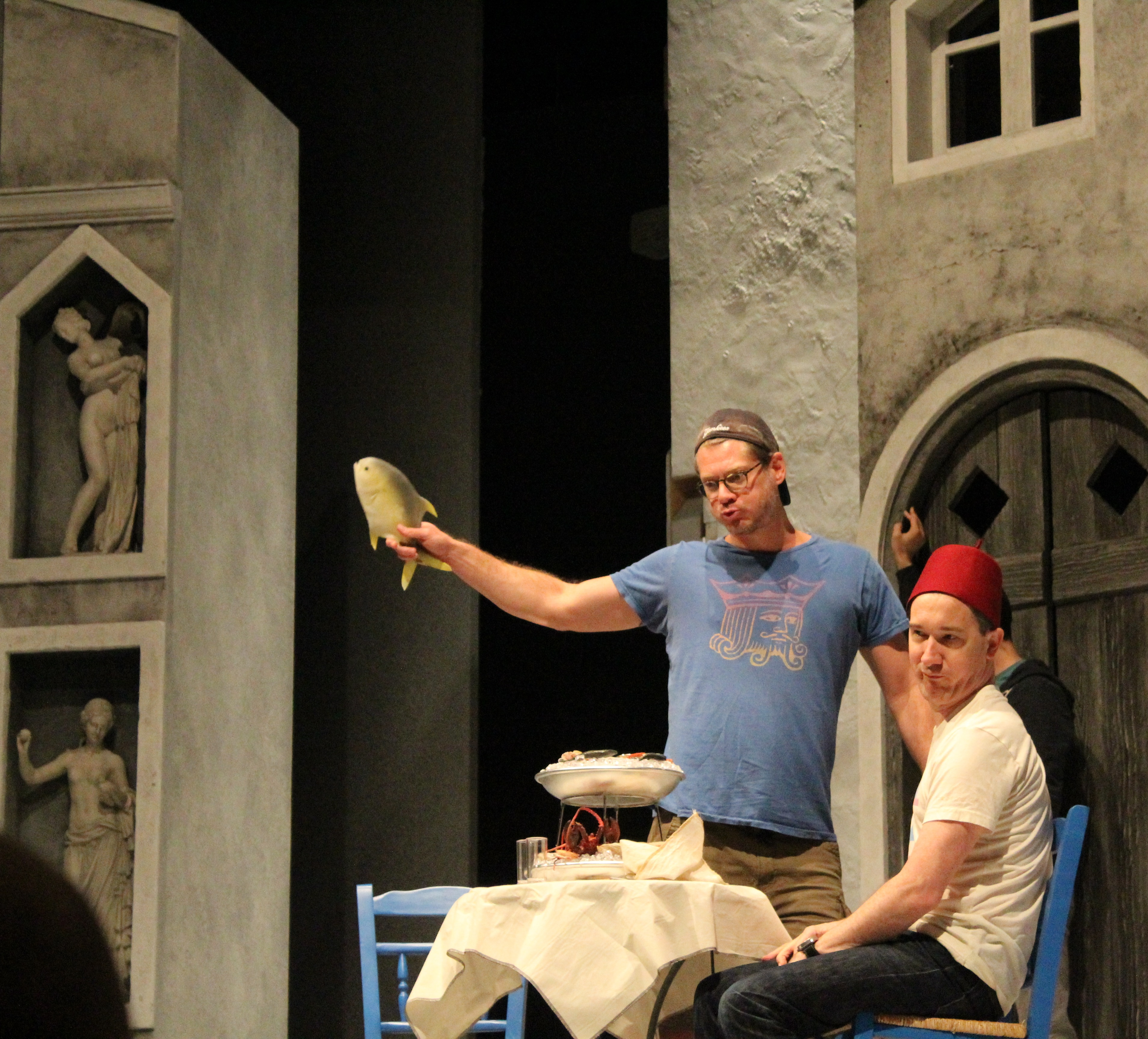 Gregory Wooddell and Carson Elrod in rehearsal for The Comedy of Errors.
